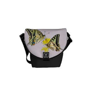 Pretty Butterflies and Flowers Commuter Bag