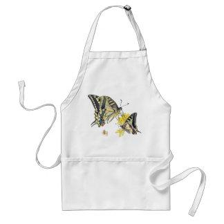 Pretty Butterflies on Yellow Flowers Standard Apron