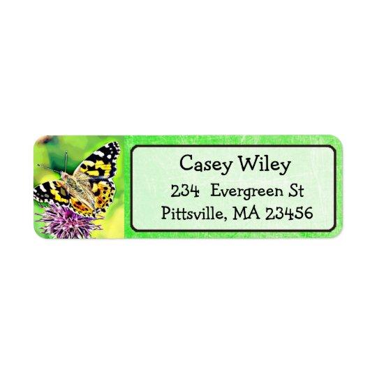 Pretty Butterfly Return Address Label