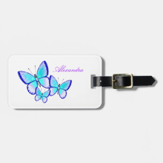 Pretty Butterfly Trio Luggage Tag
