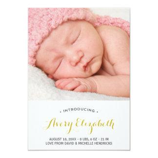 Pretty Calligraphy | Photo Birth Announcement