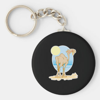 pretty camel and pyramids scene key ring