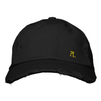 Pretty Cap in Consumed Sarja Embroidered Letter