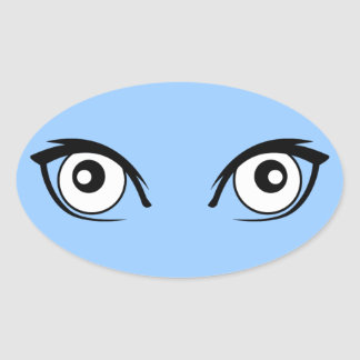 Pretty Cartoon Eyes Sticker