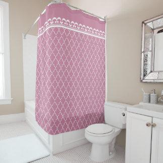 Pretty Cashmere Pink Quatrefoil Patterns Shower Curtain