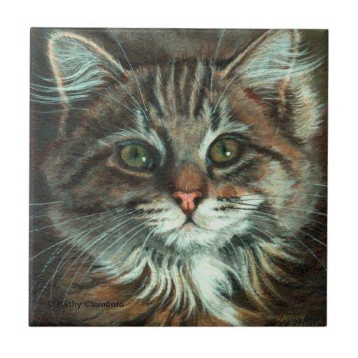 Pretty cat face tile