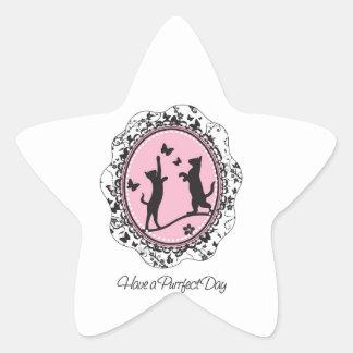 Pretty Cat Star Sticker