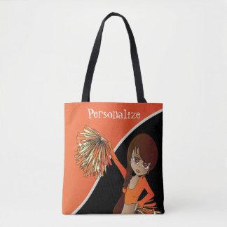 Pretty Cheerleader Girl - Orange Tote Bag