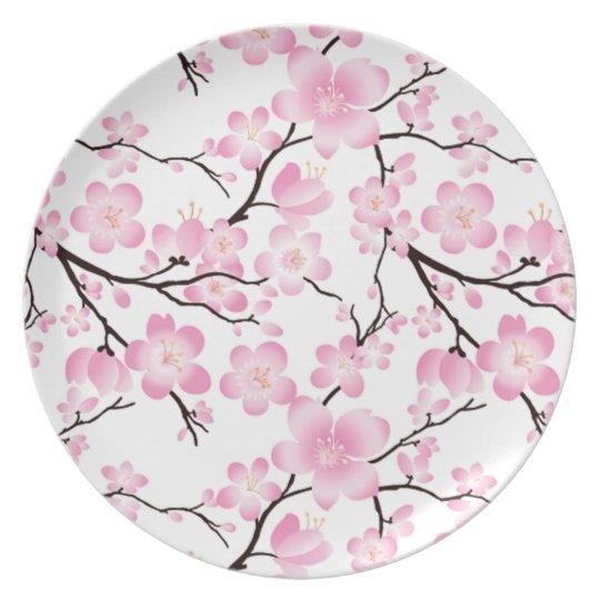 pretty cherry blossom vintage china inspired plate