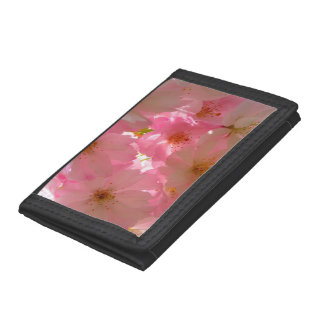 Pretty Cherry Flowers Trifold Wallets