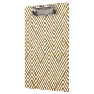Pretty chevron zigzag diamond shapes pattern clipboard