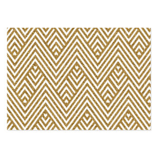 Pretty chevron zigzag diamond shapes pattern pack of chubby business cards