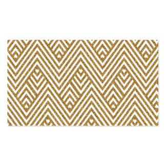 Pretty chevron zigzag diamond shapes pattern pack of standard business cards