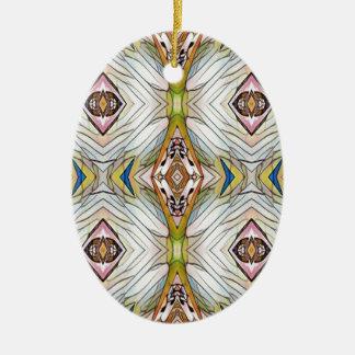 Pretty Chic Artistic Tribal Pattern Ceramic Oval Decoration