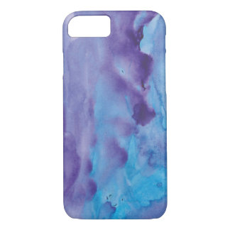 Pretty Chic Blue Purple Watercolor iPhone 8/7 Case