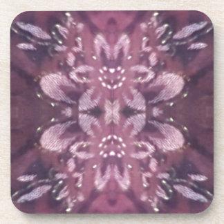 Pretty Chic Burgundy Lavender Artistic Floral Coaster