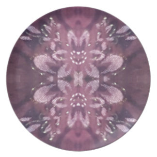 Pretty Chic Burgundy Lavender Artistic Floral Dinner Plate
