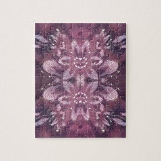 Pretty Chic Burgundy Lavender Artistic Floral Puzzles