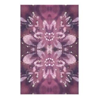 Pretty Chic Burgundy Lavender Artistic Floral Stationery