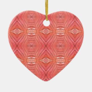 Pretty Chic Soft Peach Pastel Pattern Ceramic Ornament