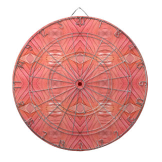 Pretty Chic Soft Peach Pastel Pattern Dartboard