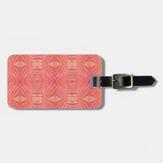 Pretty Chic Soft Peach Pastel Pattern Luggage Tag