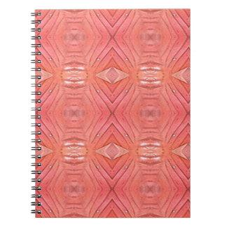 Pretty Chic Soft Peach Pastel Pattern Notebook
