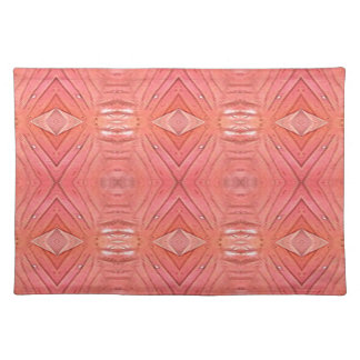 Pretty Chic Soft Peach Pastel Pattern Placemat