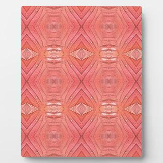 Pretty Chic Soft Peach Pastel Pattern Plaque