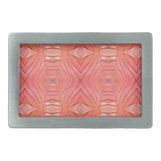 Pretty Chic Soft Peach Pastel Pattern Rectangular Belt Buckle