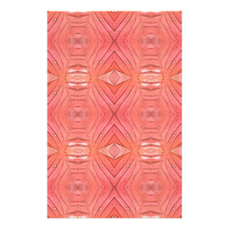 Pretty Chic Soft Peach Pastel Pattern Stationery