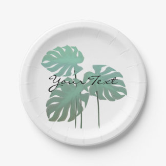 Pretty Chic Tropical Leaf Garden Party Plates