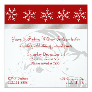 Pretty Christmas Party Invitation