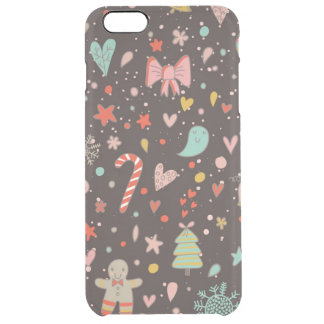 Pretty Christmas pattern Clear iPhone 6 Plus Case