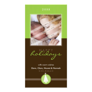 PRETTY CHRISTMAS PHOTOCARD :: stripedstitch 6P Customized Photo Card