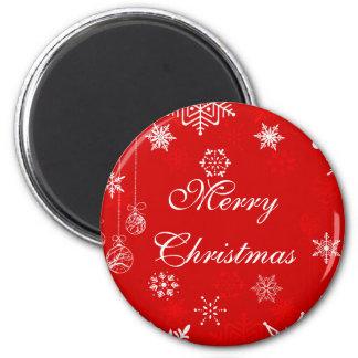 Pretty Christmas snowflakes magnet