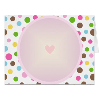 Pretty Circle Pattern with Heart Card