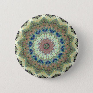 Pretty Circular Mandala 6 Cm Round Badge