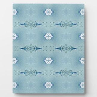 Pretty Classic Blues In Modern Pattern Plaque