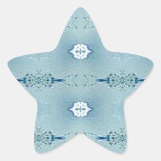 Pretty Classic Blues In Modern Pattern Star Sticker