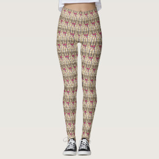 Pretty Classic Pink floral Feminine pattern Design Leggings