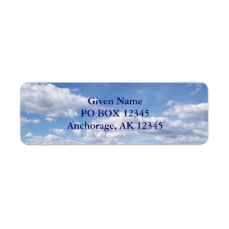 Pretty Clouds Avery Label Return Address Label