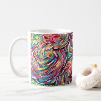 Pretty coffee mug, artsy mug, painters mug