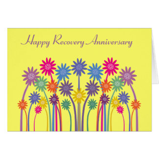 Pretty Colorful Flowers Customizable Recovery Card