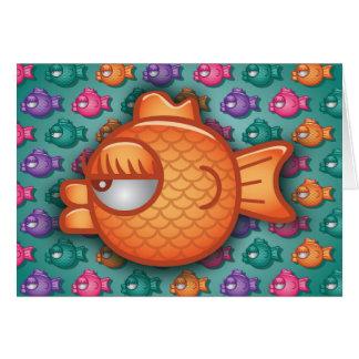 Pretty Colorful Goldfish Greeting Card