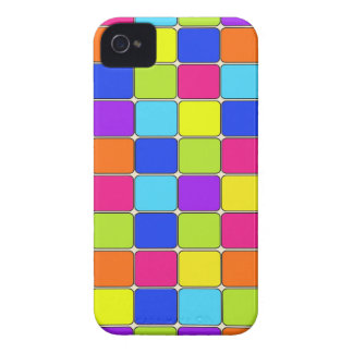 Pretty Colorful Mosaic Tile Pattern Gifts for Her iPhone 4 Cases