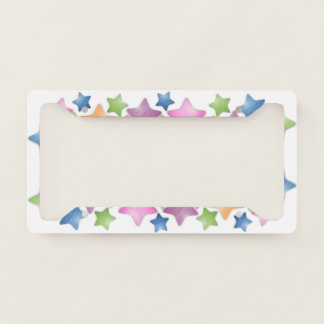 Pretty Colorful Stars Licence Plate Frame