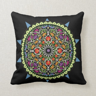 Pretty Colorful Statement Throw Pillow