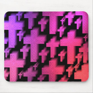 Pretty colors together flying crosses mouse pad