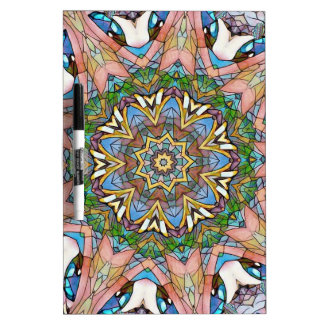 Pretty Cool Pastel Artistic Stained Glass Dry-Erase Board